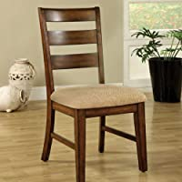 247SHOPATHOME Idf-3111SCX2 Dining-Chairs, Brown