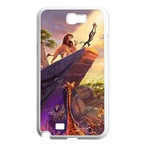 C-EUR Diy Phone Case Lion King Pattern Hard Case For Samsung Galaxy Note 2 N7100