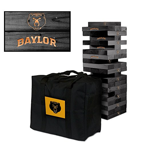 NCAA Baylor Bears 872592Baylor University Bears Onyx Stained Giant Wooden Tumble Tower Game, Multicolor, One Size by Victory Tailgate