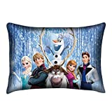 Frozen Pillowcase Two Sides Printed in Size 20x30 Inch (Zippered Pillow Case Cover, Home Decorative Pillowslip)