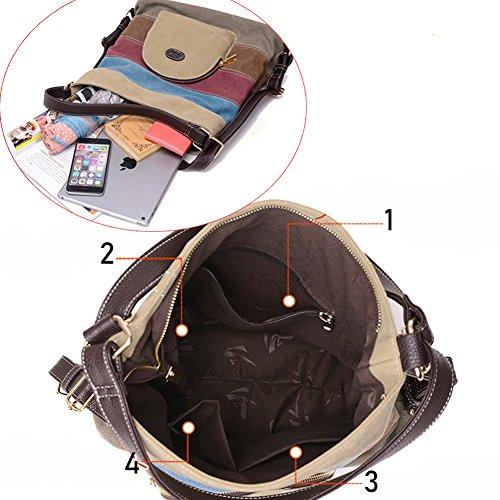 Daypacks Shoulder Bag b018 Hobos Rucksack Totes Bags Backpacks Multi Handbag Canvas Defeng U5qpz