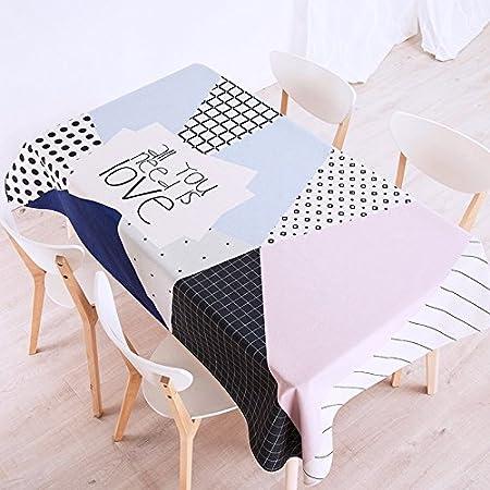 140 * 100 cm azul negro rosa Patchwork rayas Checker escandinavo ...
