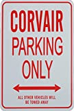 CORVAIR PARKING ONLY SIGN - Mini Signs ideal for the Chevrolet enthusiast