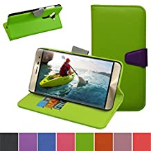 ZenFone 3 Case,Mama Mouth [Stand View] Flip Premium PU Leather [Wallet Case] With Card / Cash Slots and Pocket Cover For Asus ZenFone 3 ze552kl Smartphone 2016,Green