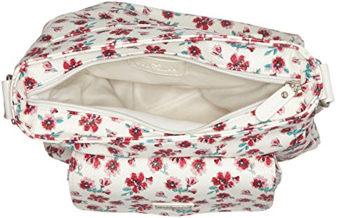 Tom Tailor Acc Rinapu Flower Donna Borse a tracolla Bianco (Weiss) 7x27.5x25 cm (B x H x T)