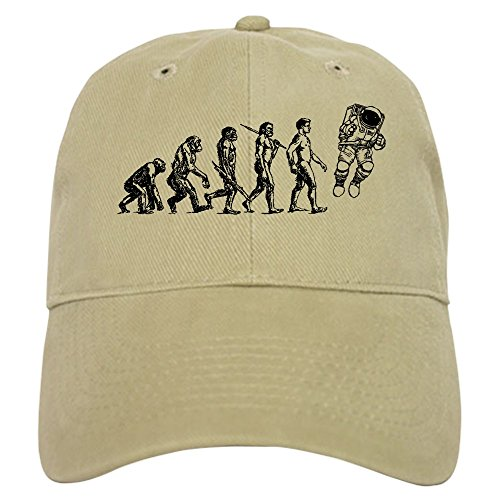 Evolution Funny Cap (CafePress - Astronaut Evolution - Baseball Cap with Adjustable Closure, Unique Printed Baseball Hat)