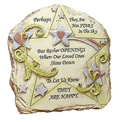 BANBERRY DESIGNS Memorial Desktop Plaque - Remembrance Poem Perhaps They are not The Stars in The Sky - Easel Backed Inspirational Sign - Loss of a Loved One - in Memory ()