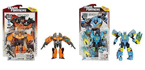 Maven Gifts: Transformers Generations Deluxe Class Jhiaxus Figure with Deluxe Class Nightbeat Figure