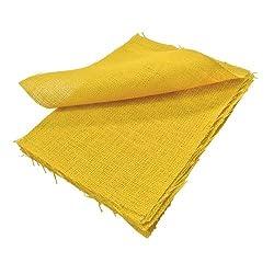 9 X 12 Inches Yellow Burlap Sheets - 25 Pcs