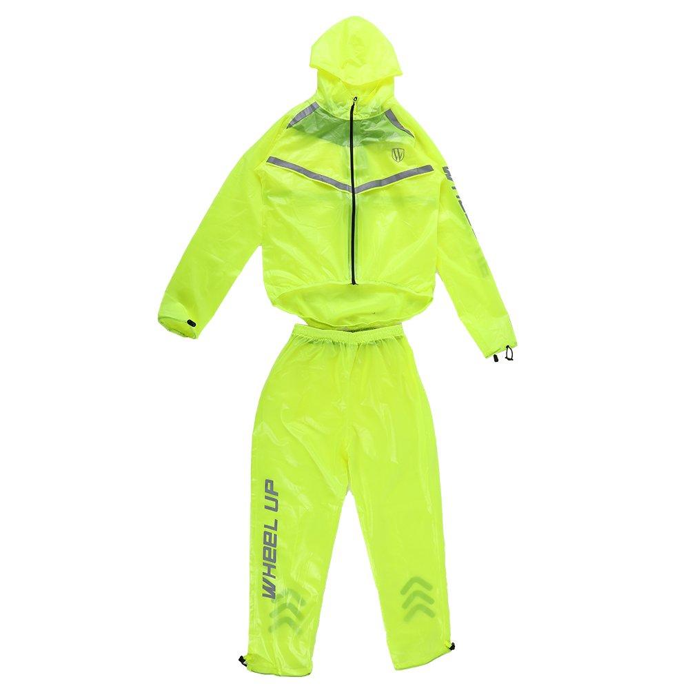 Alomejor Unisex Regenbekleidung geeignet, Outdoor, winddicht, wasserdicht, Fahrrad-Mantel Rain Pants
