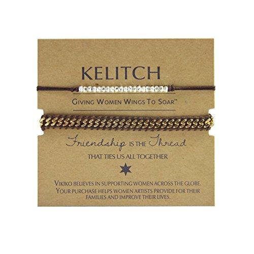 KELITCH Bracelets Handmade Adjustable Friendship