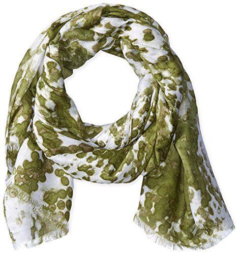 Michael Stars Women's Dotted Python Scarf, Olive Moss, One Size