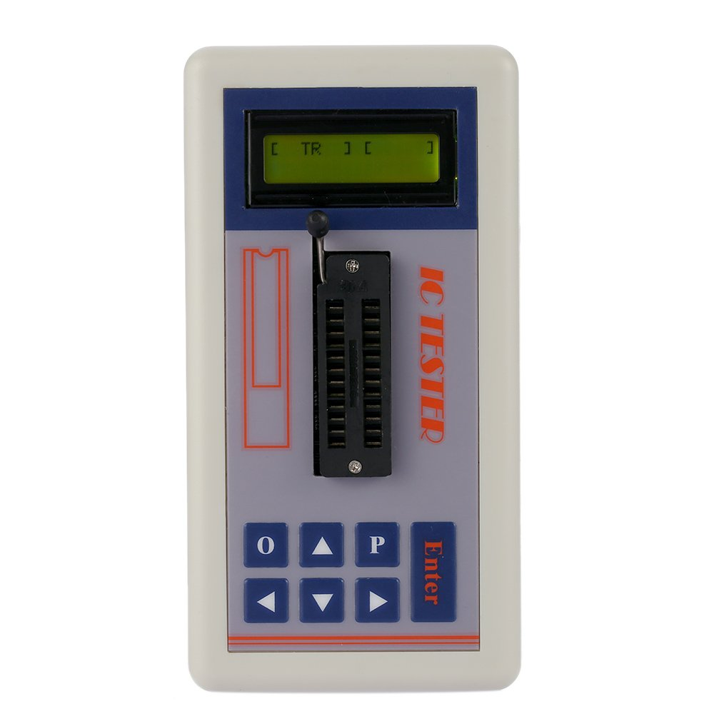 Transistor Tester Integrated Circuit IC Tester Meter Maintenance Tester MOS PNP NPN Detector 3.3V/5.0V/Auto Search Mode