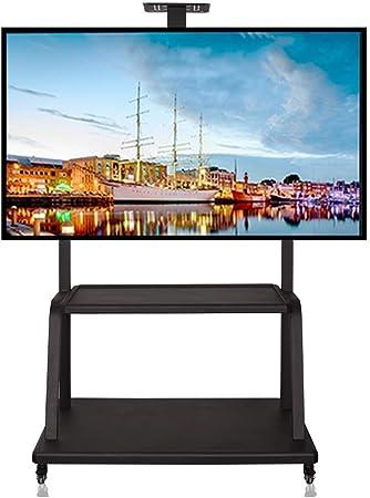 JJDSZJ Soporte de TV móvil de pie con Bandeja, para televisores LCD Planos OLED QLED LCD de 37-65