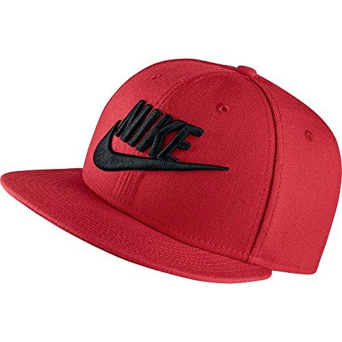 Nike Graphic Futura True 2 Men's Snapback Hat Cap Red/Black 584169-659 (Size os)
