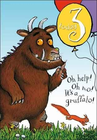 The Gruffalo Happy 3rd Birthday Age 3 Card Amazon Co Uk Office