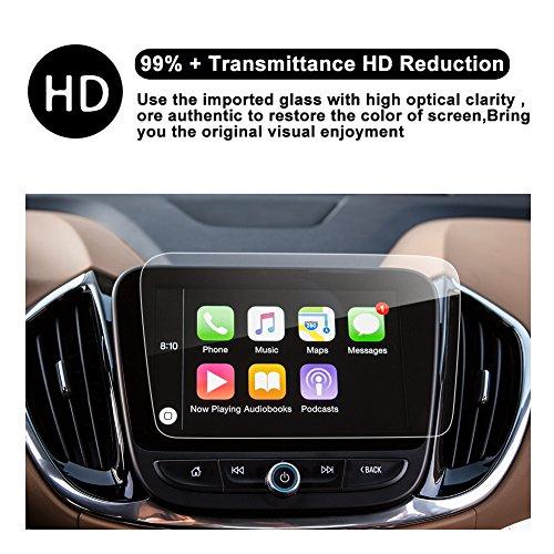 RUIYA Chevrolet Malibu 8-Inch Trapezoid/7-Inch Car Navigation Protective Film,Clear TEMPERED GLASS HD and Protect your Eyes (2016-2018 Chevy Malibu 8-Inch) by R RUIYA