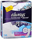 Always Discreet Bladder Protection Pads Regular Length Moderate Absorbency - 3pks of 66, Pack of 4