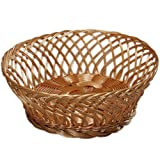 Kesper 17841 Fruit/Bread 10.24'' x 10.24'' x 3.94'' Basket, Brown