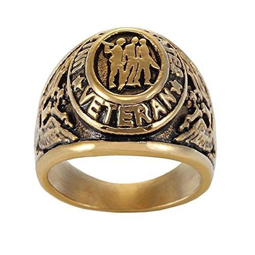 Golden Oval Ring - 9