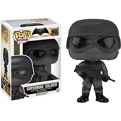 Funko POP Heroes: Batman vs Superman - Superman Soldier Action Figure: Funko Pop! Heroes:: Toys & Games