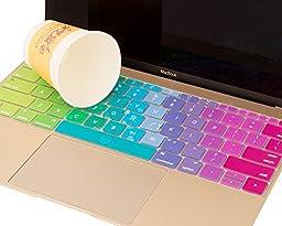 Mosiso Protective Keyboard Skin for Macbook 12 Inch with Retina Display A1534, Rainbow
