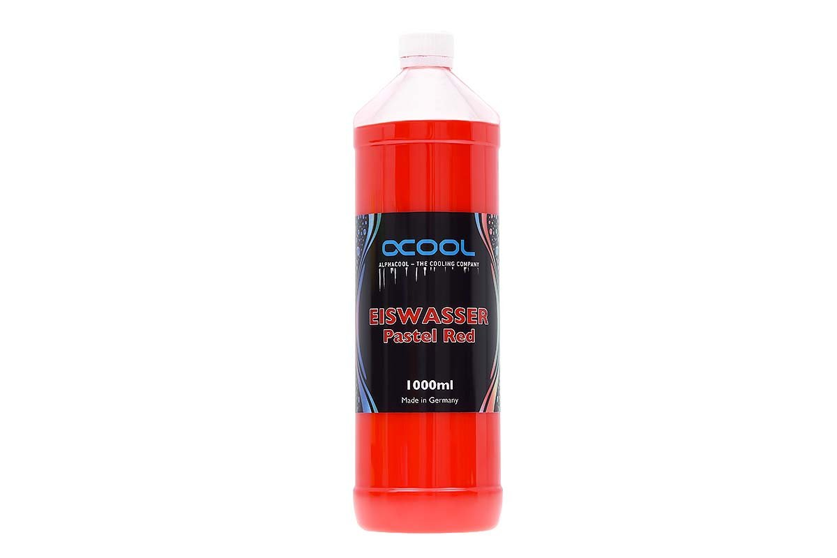 Alphacool 18557 Eiswasser Pastel Red premixed coolant 1000ml Water Cooling Water additives