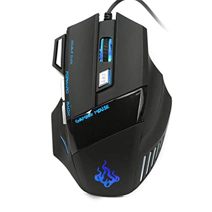 3991a57f9e7 Image Unavailable. Image not available for. Color: 5500 DPI 7 Button LED  Optical USB Wired Gaming Mouse Mice for Pro Gamer Cool (