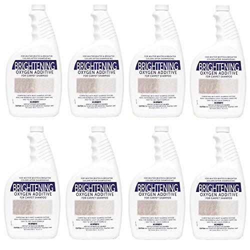 Genuine Kirby 32oz. Brightening Oxygen Additive for carpet shampoo (8 bottles) by Kirby