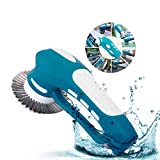 Scrubber, Handheld Electric Cleaning Brush Battery Operated with 3 Replacement Brushes and 1 Scouring Pad for Kitchen, Bathroom,Cars Cleaning