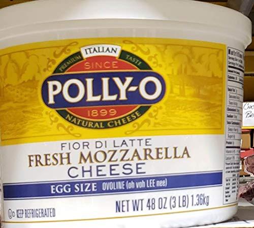 (Polly-o Fresh Mozzarella Cheese 48 oz (3lb) X 2 packs TotaL 6LBS)