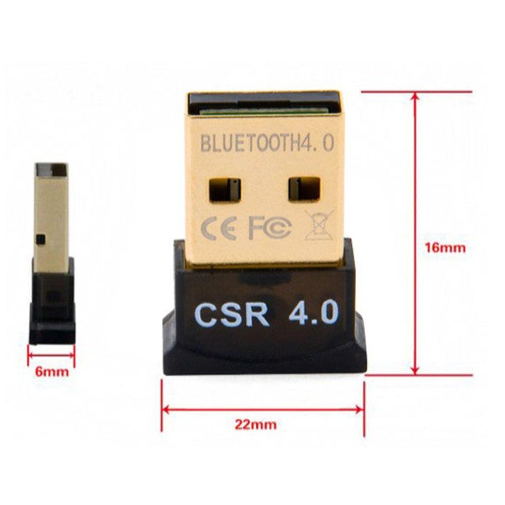 Linux E Stereo Headset Compatibile nero Teepao Bluetooth 4.0 USB Micro Adattatore A Bassa Energia Dongle Per PC Con Windows 8//7 // Vista // XP Raspberry Pi