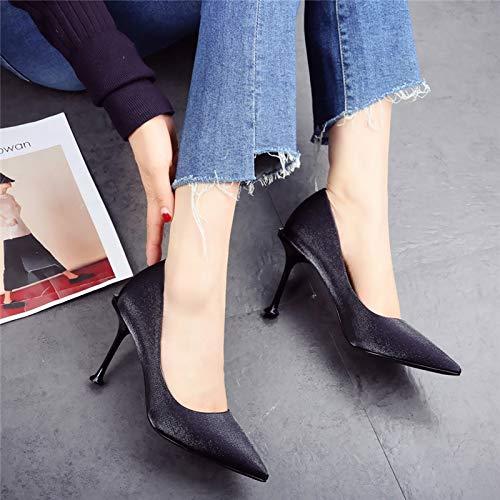 HOESCZS Schuhe mit hohen Absätzen für Frauen mit 2019 neuen neuen neuen Damenschuhe mit Leoparden-Print und flachem Mund Spitzen Kopf mit Einzelschuhen. Mode-Herbstschuhe 1143a4