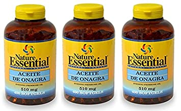 ACEITE DE ONAGRA 510 MG. (10% GLA) 400 PERLAS (Pack 3 u.): Amazon.es: Salud y cuidado personal