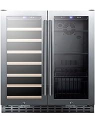 Summit SWBV3001 Under Counter Beverage Refrigerator, Glass/Black