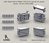 Live Resin 1:35 MK19-3 PA120 32 Cart Ammo Boxes Ammo Belt Resin Detail #LRE35081