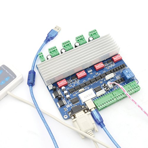 C Nema23 Stepper Motor Driver Controller Board + Remote Hand Control for CNC Router Milling Engraving Machine ()