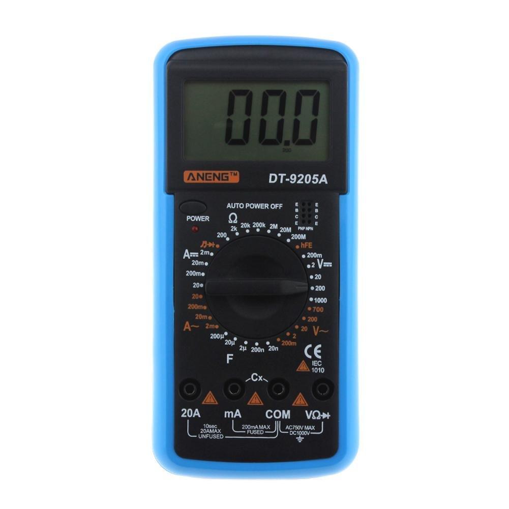 Digital Multimeter DT-9205A AC DC LCD Display Professional Electric Handheld Tester Meter Multimetro Ammeter Multitester