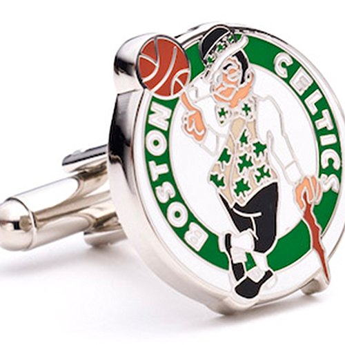 Boston Celtics Cufflinks - NBA Basketball Sports Themed Formal (Boston Celtics Cufflinks)