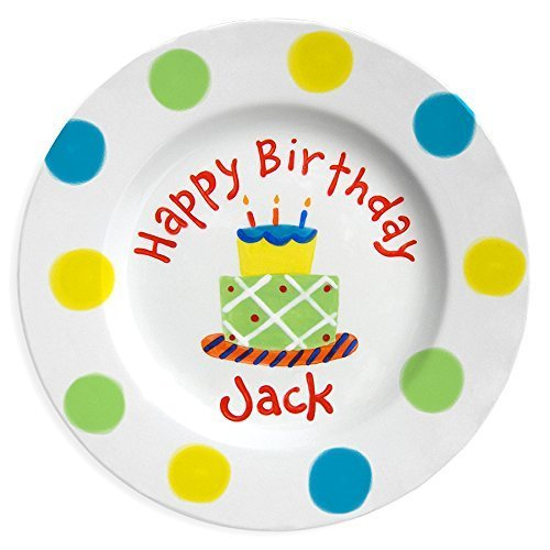 Personalized Kids Birthday Plate, Hand Painted Ceramic Birthday Plate, Little Worm and Company