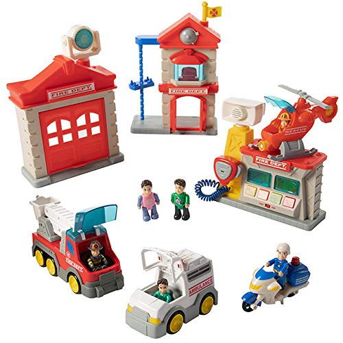 Playset Fire (Fat Brain Toys Fire Station Playset)