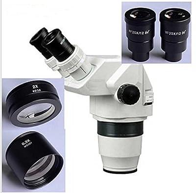 GOWE 2X-180X Ultimate Binocular Stereo Zoom Microscope Head + Microscope Eyepiece Auxillary Lens SZ0.3X SZ2.0X