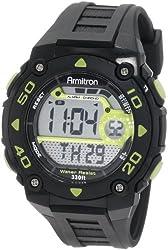 Armitron Sport Men's 40/8249LGN Black and Lime Green Digital Chronograph Watch