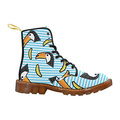 D-verhaal Schoenen Toucan Bird Lace Up Martin Boots Voor Dames