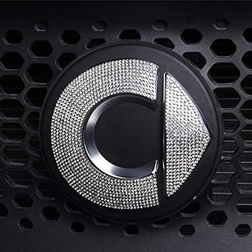 ZHANGDAN Personalisierte Flash Drill Front Logo Aufkleber Auto Styling Dekoration Aufkleber Zubeh/ör Interieurleisten f/ür Mercedes New Smart 453 Fortwo Forfour 2015 2016 2017 2018