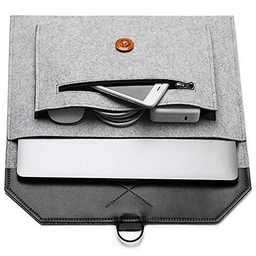 "ABRONDA Felt Laptop Sleeve 11.6 inch Felt Envelope Sleeve Case Protective Bag for 11.6"" MacBook Air A1370 A1465 12"" Notebook IPad ThinkPad T-Series|X1 Carbon Yoga Surface Book- Hemp Gray"