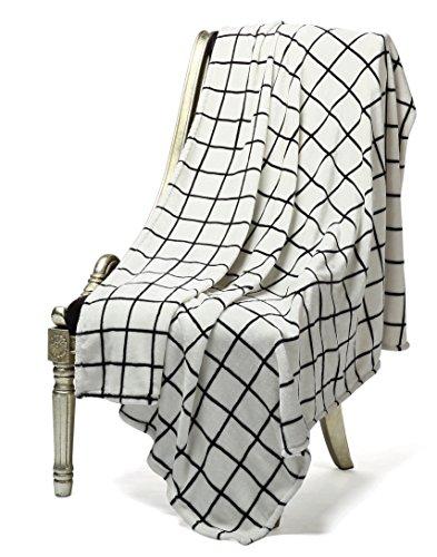 (Bertte Ultra Velvet Plush Super Soft Decorative Throw Blanket-50