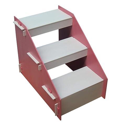 LXLX Taburete de Madera de 3 Pasos para niños, Escalera de ...