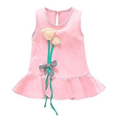 Beladla Vestido para NiñAs Floral Bebé NiñAs Princesa Bowknot ...