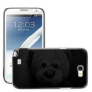 Super Stellar Slim PC Hard Case Cover Skin Armor Shell Protection // M00051918 black aero dark bear // Samsung Galaxy Note 2 N7100